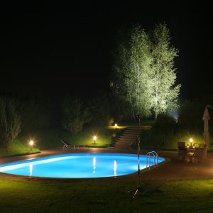 bigstock Pool and garden by night 194034621